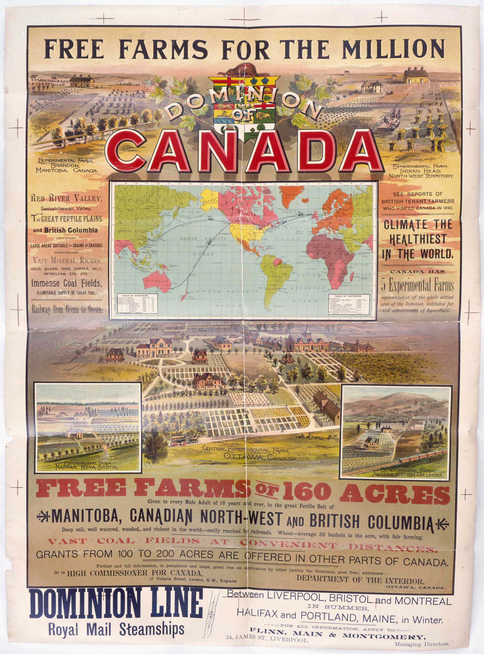 Free Farms for the Million. Dominion of Canada. Copyright Libraries and Archives Canada